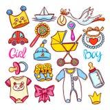 Grupo de coisas das crianças Imagens de Stock Royalty Free