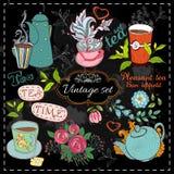 Grupo de coleção do chá Fotografia de Stock