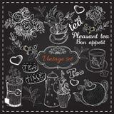 Grupo de coleção do chá Foto de Stock Royalty Free