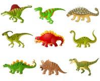 Grupo de coleções dos dinossauros dos desenhos animados Imagens de Stock