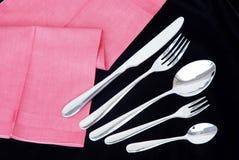 Grupo de colher, forquilha, faca. Imagem de Stock Royalty Free