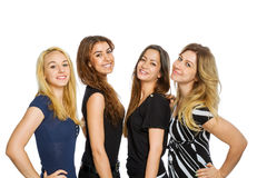 Grupo de colocación de las muchachas Fotografía de archivo