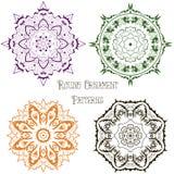 Grupo de colorido em volta dos testes padrões 1 do ornamento Foto de Stock