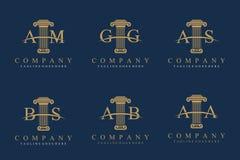 Grupo de coluna Logo Design fotografia de stock