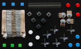 Grupo de componentes eletrônicos imagem de stock