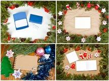 Grupo de composição do Natal para seu projeto Imagens de Stock Royalty Free
