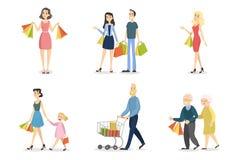 Grupo de compra dos povos ilustração do vetor