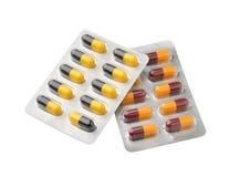 Grupo de comprimidos em um pacote de bolha da folha Fotos de Stock Royalty Free