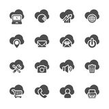Grupo de computação do ícone da nuvem, vetor eps10 Imagem de Stock Royalty Free