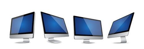 Grupo de computadores modernos Imagem de Stock
