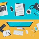 Grupo de conceitos lisos da ilustração do projeto para anunciar, negócio, comércio eletrônico, rede social Fotos de Stock