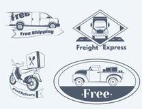 Grupo de ícones da entrega Imagens de Stock
