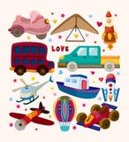 Grupo de ícones do transporte Fotografia de Stock Royalty Free