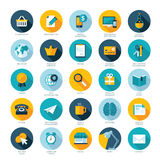 Grupo de ícones lisos do projeto para o comércio eletrônico, pagamento por c Imagem de Stock Royalty Free