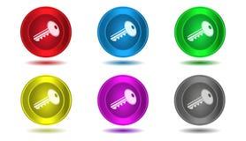 Grupo de ícones na cor, ilustração, chave Fotografia de Stock
