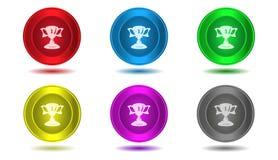Grupo de ícones na cor, ilustração, troféu Foto de Stock Royalty Free