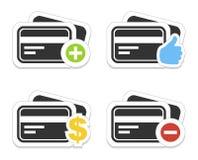 Ícone um cartão de crédito Fotografia de Stock