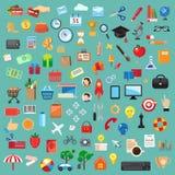 Grupo de ícones universais Fotografia de Stock