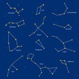 Grupo de constelações, ilustração Foto de Stock Royalty Free