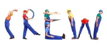 Grupo de construção Imagens de Stock Royalty Free