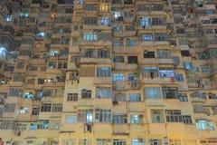 Grupo de construção muito aglomerado mas colorido em Hong Kong Imagens de Stock