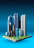 Grupo de construções ilustração stock