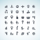 Grupo de ícones do conceito do negócio ilustração royalty free