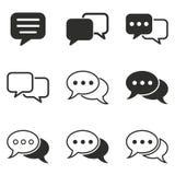 Grupo de conversa do ícone Foto de Stock