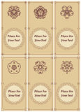 Grupo de convite ou de cartão do vintage, com laço e abstra Fotografia de Stock Royalty Free