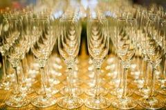Grupo de copo de vinho alto vazio Imagem de Stock