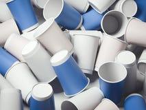 Grupo de copos de café rendição 3d Imagem de Stock Royalty Free