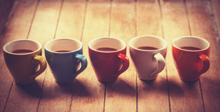 Grupo de copos de café. fotografia de stock
