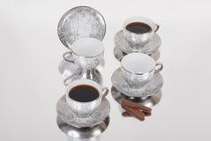 Grupo de copos do café ou de chá Imagens de Stock Royalty Free
