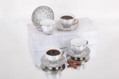 Grupo de copos do café ou de chá Fotos de Stock