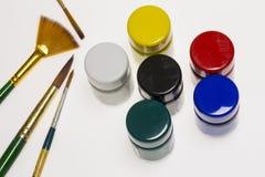 Grupo de cor de água Fotos de Stock