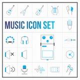 Grupo de cor do ícone da música ilustração royalty free