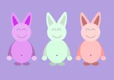 Grupo de cor doce do coelho bonito Imagens de Stock
