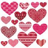 Grupo de corações. Imagem de Stock Royalty Free