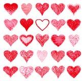 Grupo de corações ilustração do vetor