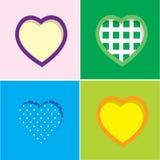Grupo de corações coloridos Foto de Stock