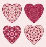 Grupo de corações do laço Foto de Stock Royalty Free