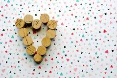 Grupo de corazones Imagen de archivo libre de regalías