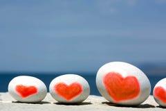 Grupo de corazones encantadores Fotografía de archivo