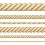 Grupo de cordas sem emenda da espessura diferente Fotos de Stock Royalty Free