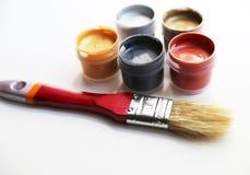 Grupo de cores nas latas Foto de Stock