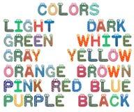 Grupo de cores para crianças imagens de stock royalty free