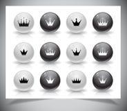 Grupo de coroas Imagens de Stock Royalty Free
