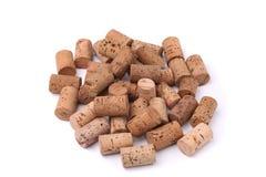 Grupo de cortiça do vinho Fotografia de Stock