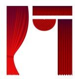 Grupo de cortinas do teatro Imagem de Stock Royalty Free