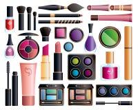 Grupo de cosméticos ilustração stock